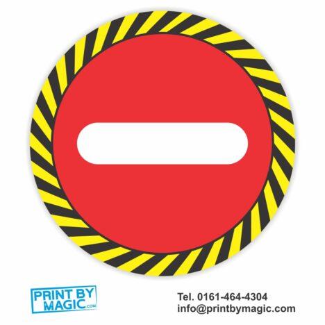 Stop Floor Sign