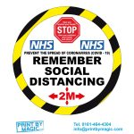 remember social distancing covid 19 stickers