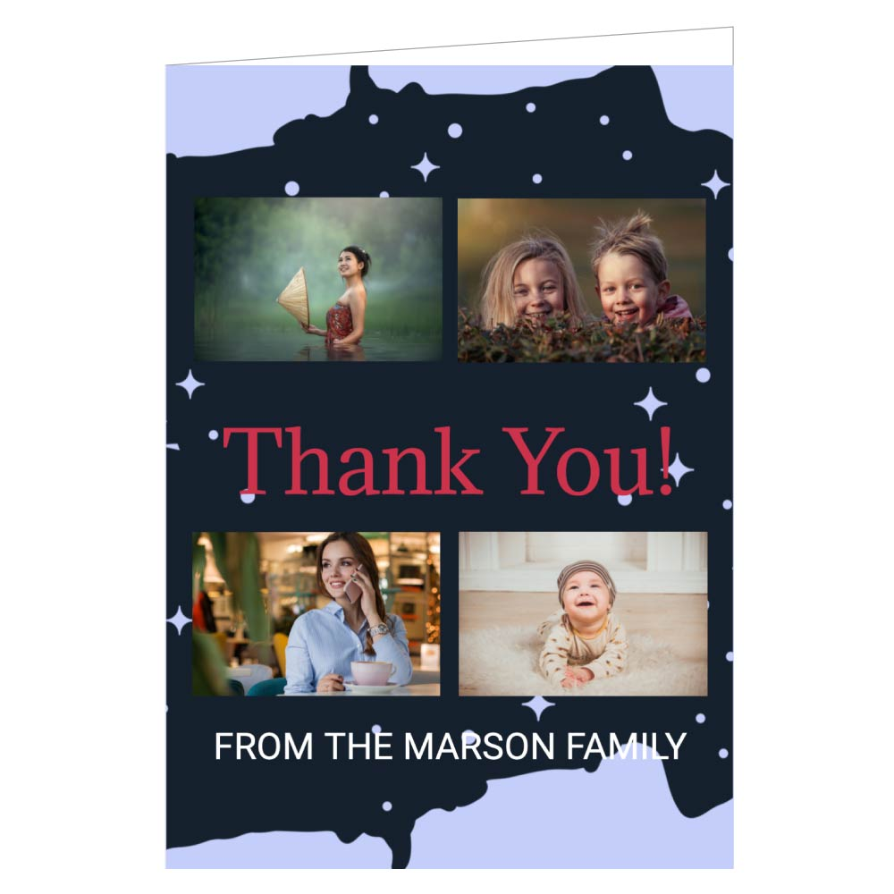 Thank You Card Various Sizes Personalised
