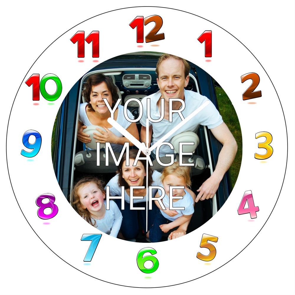 Personalised Clock - Various Sizes 4mm White Acrylic - Design Online