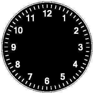 printed personalised clock
