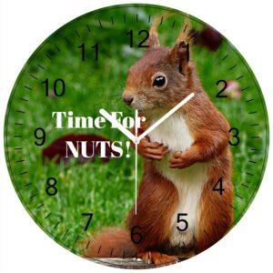 black numbers personalised clock