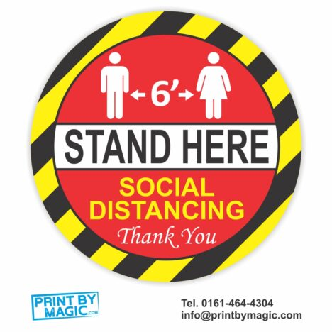 Keep Your Distance Social Distancing Stand Here