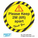 please keep 2m apart social distancing sticker