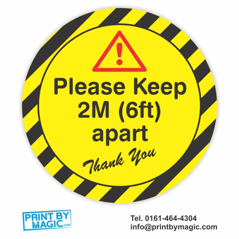 please keep 2m apart social distancing sticker