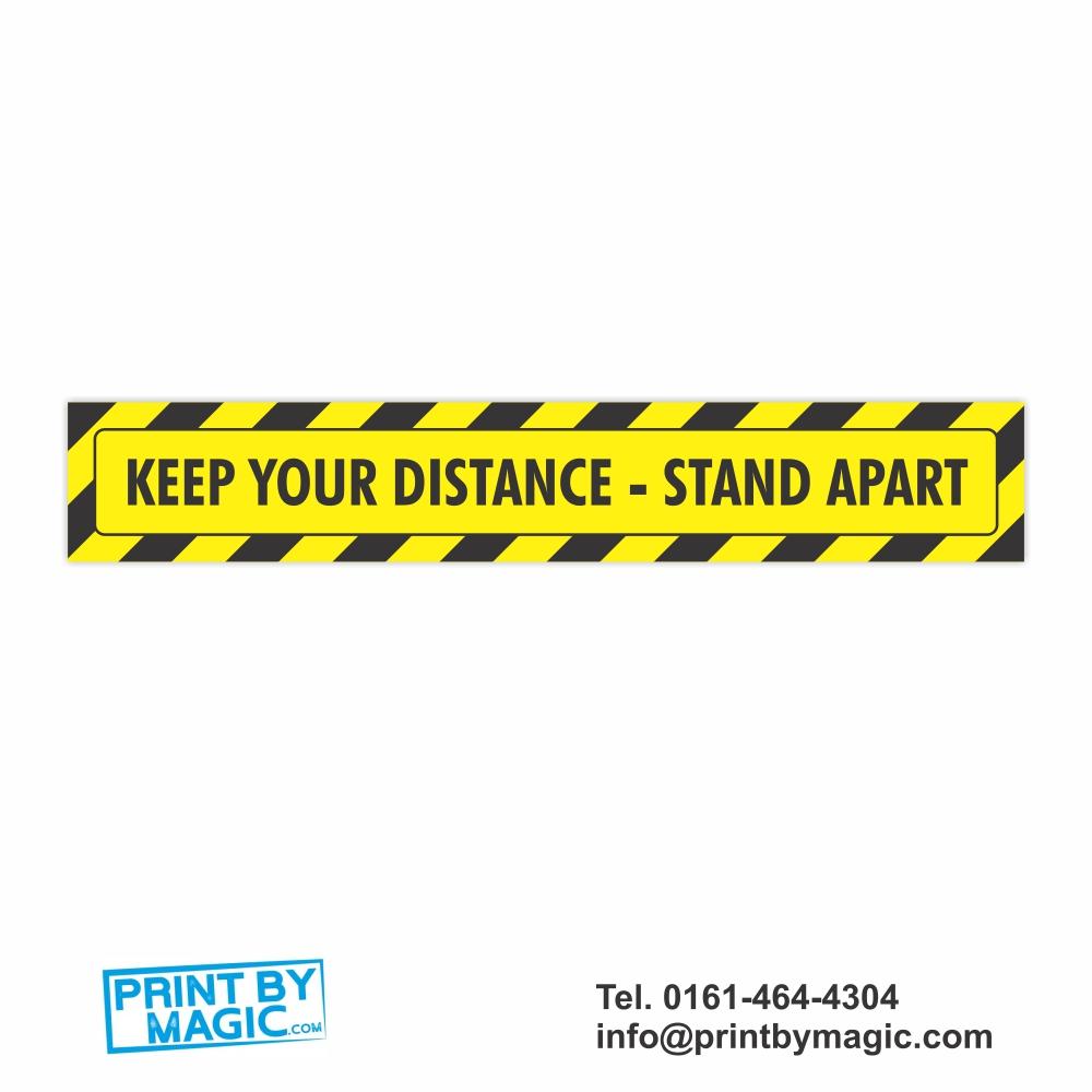 Keep Your Distance Floor Vinyl Sticker
