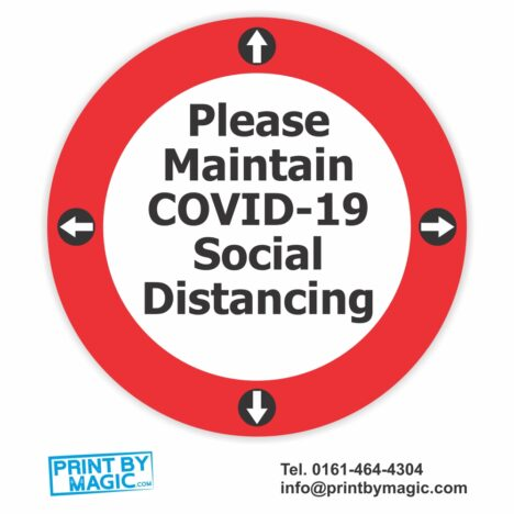 maintain social distancing sticker