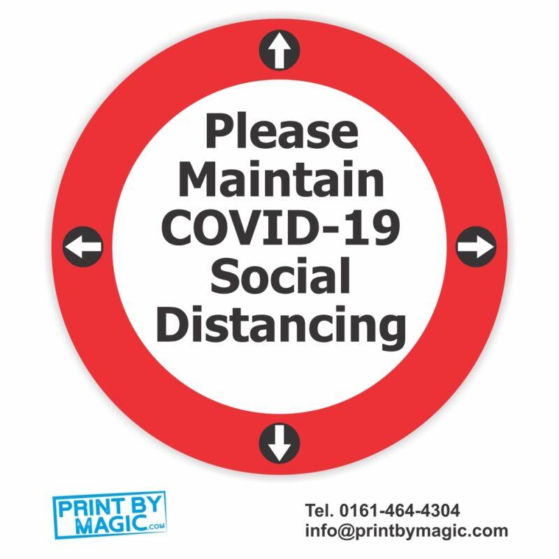 maintain social distancing sticker