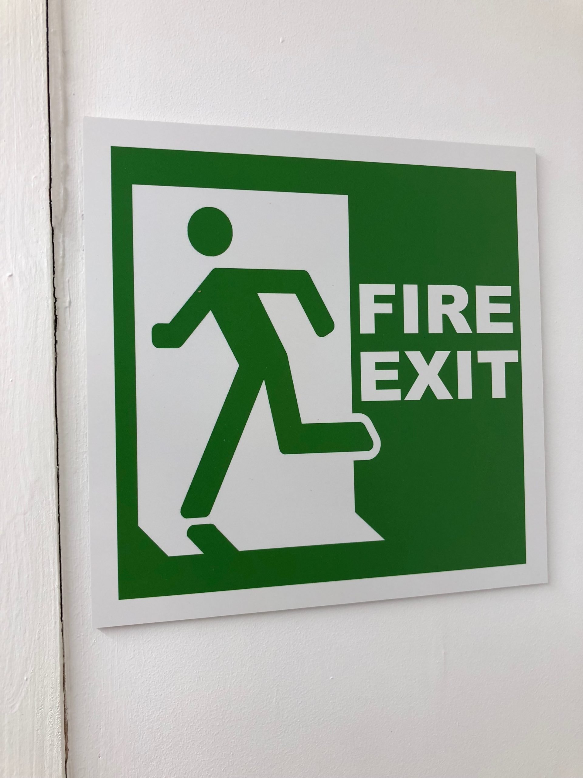 Fire Exit Sign Plastic