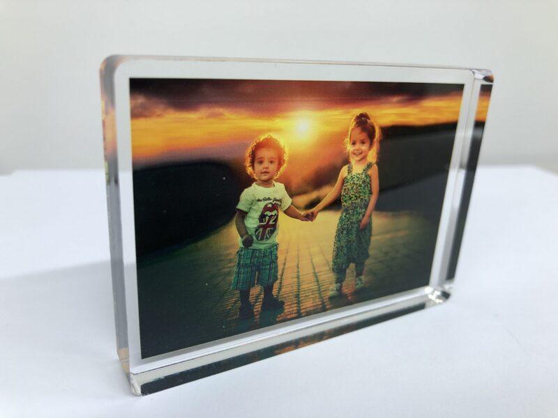 photo block printed and personalised