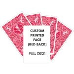 Custom Printed Red Back Bicycle Playing Cards