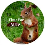 personalised squirrel clock